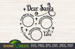 Santa Tray SVG Cut File, Dear Santa Tray Round Product Image 3