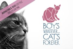 Boys Whatever Cats Forever SVG Cut File Product Image 1