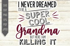 I Never Dreamed I'd Be A Super Cool Grandma Svg. Grandmother Product Image 2