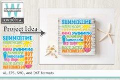 BUNDLED Summer Cutting Files KWDB028 Product Image 6