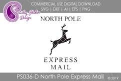 North Pole Express Mail Santa Sack SVG DXF Ai EPS PNG Product Image 1