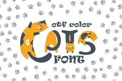 Cats cute OTF color font Product Image 1