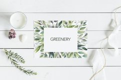 Watercolor Greenery Wreath Clipart. Product Image 6