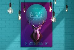 Trendy Christmas Poster / Layered PSD Product Image 4