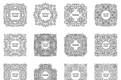 24 Vintage Vector Frames Collection Product Image 3