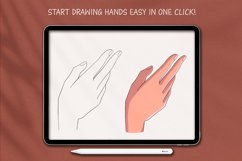 Procreate Hands Stamp Brushes, Guide Brushes Product Image 3