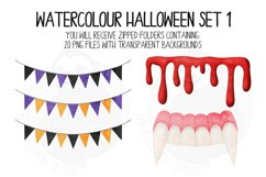 Watercolor Halloween Clip Art Set 1 Product Image 2