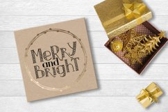 MERRY LIGHTS - hand drawn Christmas font Product Image 6