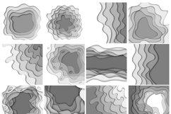 Bundle of 100 paper cut backgrounds Product Image 5