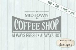 Coffee Shop Kitchen SVG DXF File Product Image 2