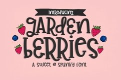 Garden Berries Handwritten Font Product Image 1