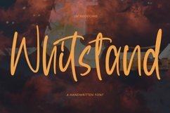 Web Font Whitstand - Handwritten Font Product Image 1