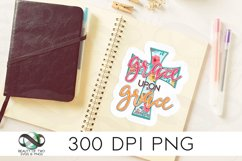 Christian Grace Upon Grace Sticker Design 300 dpi png, cross Product Image 1