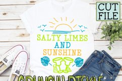 Salty Limes and Sunshine Summer Beach SVG Product Image 5