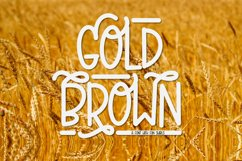Gold Brown - A Hand Lettered Caps Font With Swirls Product Image 1
