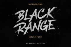 Black Range Brush Font Product Image 1