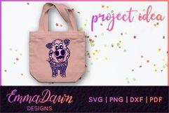 IGGY THE PIGGY SVG MANDALA / ZENTANGLE DESIGN Product Image 6