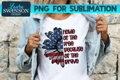 Patriotic Sunflower Glitter Red PNG   Patriotic Sublimation Product Image 1
