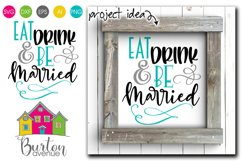 Eat Drink and be Married SVG File Product Image 1