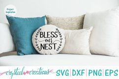 Bless Our Nest SVG, DXF, PNG, EPS Product Image 3