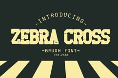 zebra cross brush font Product Image 1