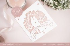 Congratulations Wedding Card SVG for Cricut and Silhouette Product Image 6