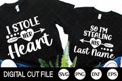 Couple Valentines Day Svg Bundle, Valentines Couple shirts Product Image 1