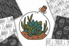 Cactus SVG and Seamless Pattern Product Image 4