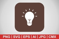 Vector Bulb Icon Product Image 1