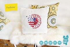 Sunflower svg, Patriotic Sunflower Svg, USA Flag Svg Product Image 5