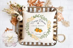 ORANGE BLOSSOM LOCAL HONEY - SVG, PNG, DXF and EPS Product Image 2