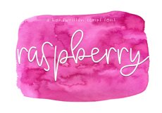 Raspberry - A Handwritten Script Font Product Image 1