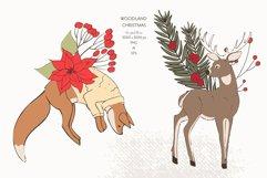 Christmas Woodland Animals Clipart Product Image 4