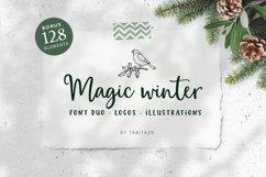 Magic Winter script font duo & logos Product Image 1