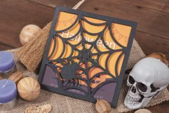 Spider Web Halloween Invitation cutting file Product Image 3