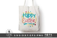 Happy Easter SVG | Easter Cut File | Easter Flowers SVG Product Image 2