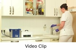 Video: Beautician washing cosmetic brush after procedure Product Image 1