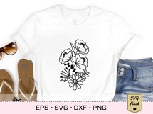 Wildflower bunch florals SVG Product Image 2