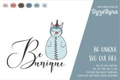 Be Unique SVG / Snowman SVG / Unicorn SVG / Christmas SVG Product Image 2