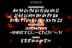 serrem - a spooky two style font Product Image 6