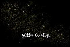 Yellow Glitter Overlays, Gold Glitter Bokeh Overlays Product Image 5