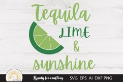 Summer Svg, Tequila Lime & Sunshine Product Image 1