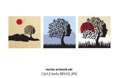 Female Tree- VECTOR ARTWORK SET Product Image 1