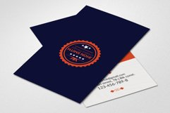 Retro Vintage Vertical Business Card Product Image 2