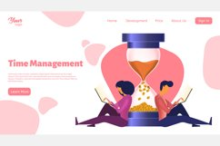 Time management. Landing page headers Product Image 6