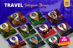 Travel Instagram Banner Pack Product Image 1