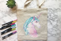Hand painted watercolor illustration of Unicorn Product Image 4