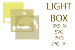 light Box SVG, Shadow Box, UNICORN Product Image 2