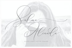Salma Alianda - Elegant Script Font Product Image 1
