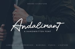 Andalimant - Handwritten Font Product Image 1